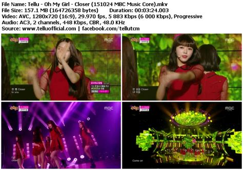 download mp3 closer oh my girl download perf oh my girl closer mbc music core 151024