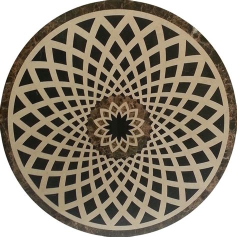 Marble Floor Medallions by Intricate Marble Floor Medallion Polished Cut With A State