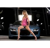 Women &amp Machines Girls Sexy Sensual Blonde Model Car