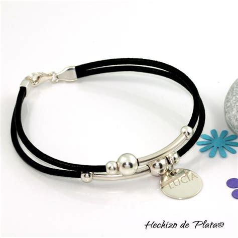 pulseras hechas a mano de cuero pulsera de cuero personalizada de hechizo de plata joyer 237 a