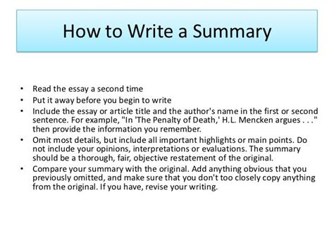 how to write a summary and analysis paper how to write summary of an article article writing