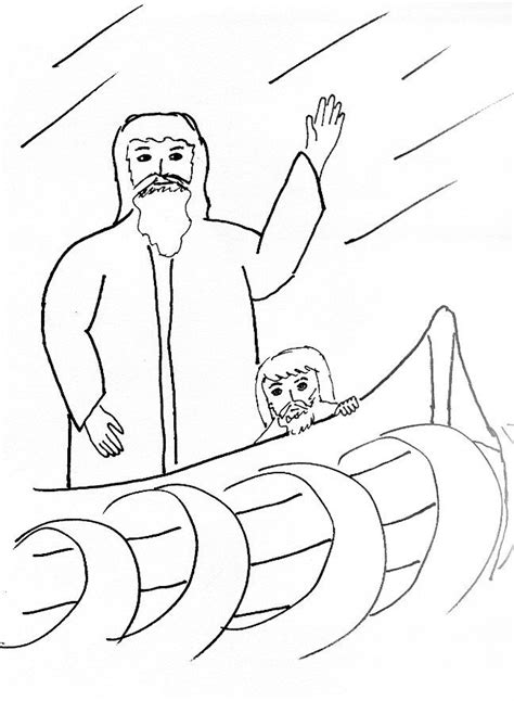 coloring pages jesus in the boat jesus calms the sea coloring page coloring home