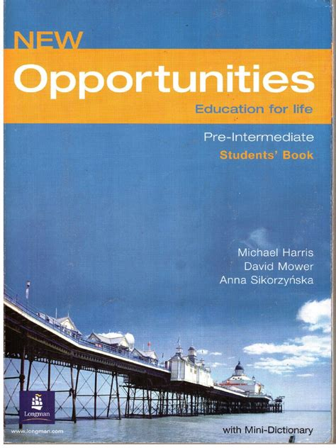 opportunities pre intermediate students book