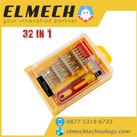 Obeng Set Multi Komplit 32 In 1 Impacter Untuk Pc Laptop Hp Obeng Set Multi Komplit 32 In 1 Impacter Elmech Technology