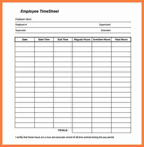Printable Clock In And Out Timesheet | 4 employee time sheet marital settlements information