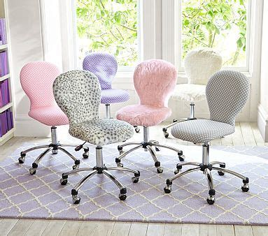 pink furry desk chair chairs and desks on pinterest
