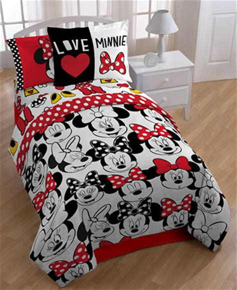 minnie mouse twin bed in a bag disney s minnie mouse quot who quot twin full comforter set bed