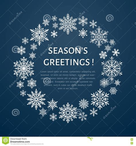 season greetings cards templates snowflake poster banner seasons greetings flat
