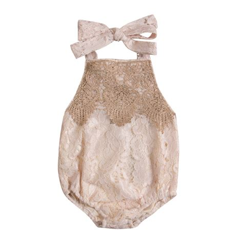 Newborn Infant Baby Lace Romper Bodysuit Jumpsuit Sunsui newborn infant baby lace romper backless jumpsuit summer babyoutfit sunsuit clothes in