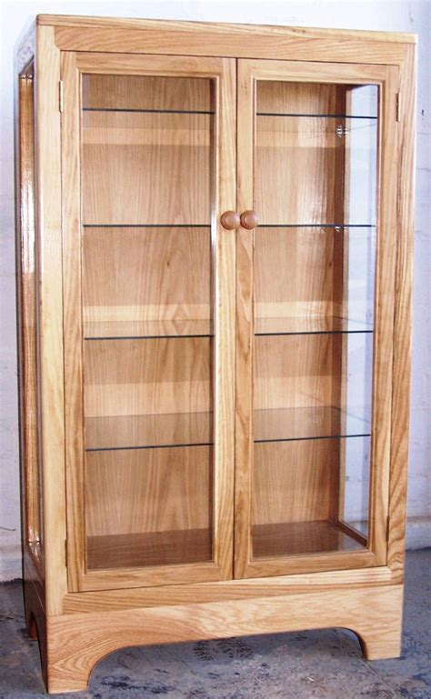 laminated wooden display cabinet feature maple wood