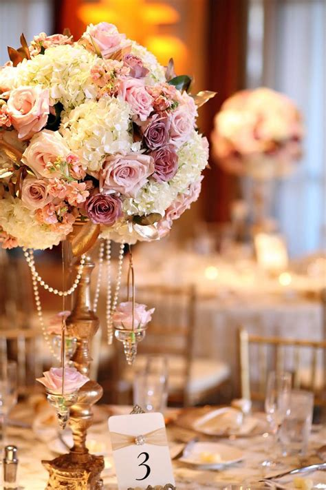 wedding centerpieces theme blush and gold wedding theme wedding centerpieces