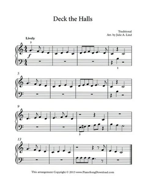 printable lyrics for deck the halls free christmas sheet music for piano printable o come