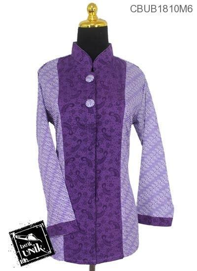 6 Baju Lengan Panjang Katun baju batik blus panjang katun kain embos motif parang