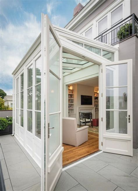 Sunroom Extension Sunroom Extension Transitional Home Exterior Sutro