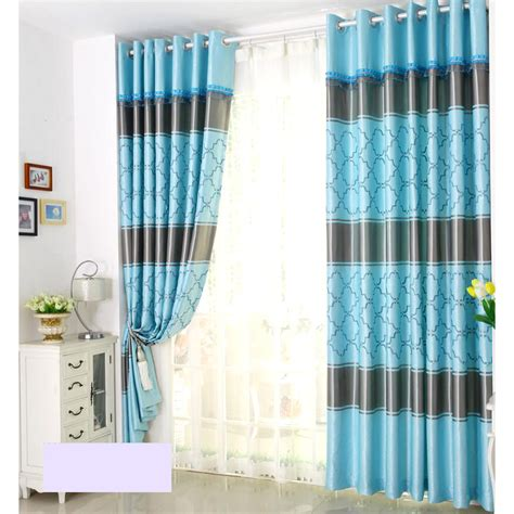 blue geometric curtains blue modern black stripes jacquard geometric curtains