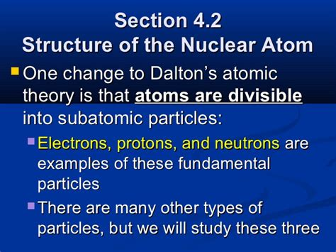 section 4 2 the structure of an atom chapter 4 atomic structure