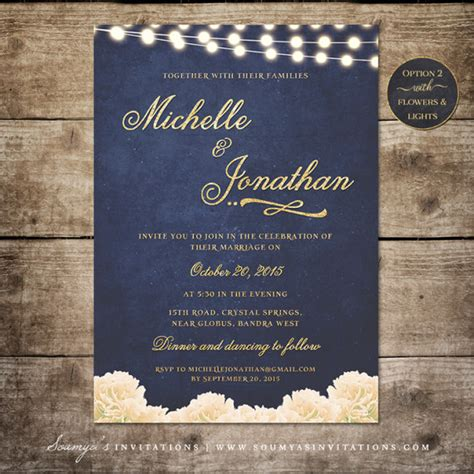 pretty moon wedding invitations navy blue and gold wedding invitations reignnj
