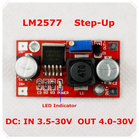 how to step dc voltage using resistors aliexpress buy lm2577 dc dc adjustable step up power supply module boost voltage converter