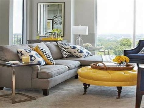 gray sofa yellow accents accent curtains white grey and yellow living room yellow