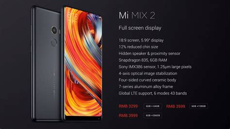 xiaomi mi mix 2 xiaomi mi mix 2 improves on predecessor in every way
