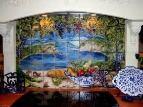lake como tile mural