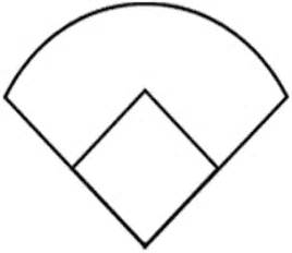 printable baseball field diagram clipart best