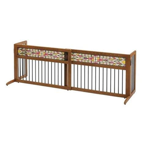 freestanding gate richell mission aztec freestanding gate pet barrier richell usa