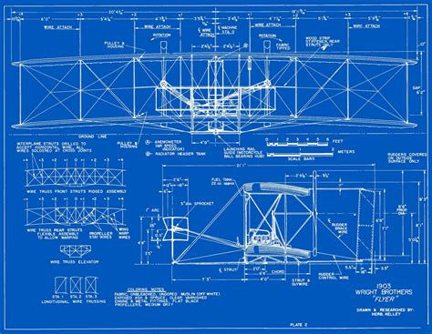 blue prints for a house 1903 wright flyer blueprints free