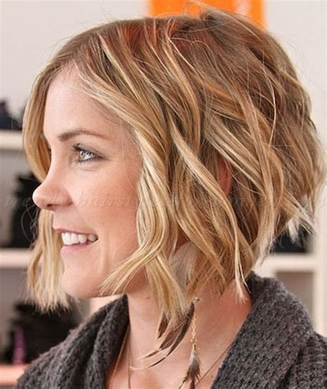a lined curly bob haircuts short wavy hairstyles for women a line wavy bob trendy