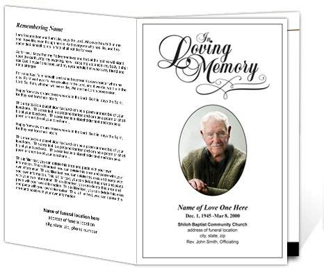 Funeral Service Card Templates by Memorial Service Programs Sle Printable Funeral