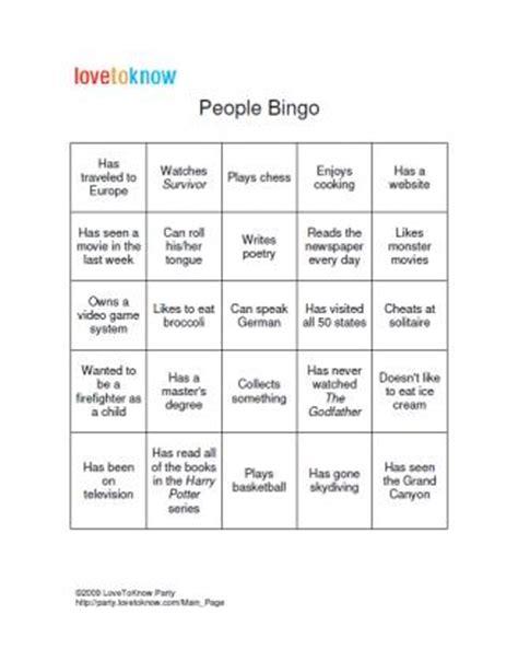 bingo game board template | lovetoknow