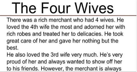 the 4 wives : an inspirational story – funny stories on