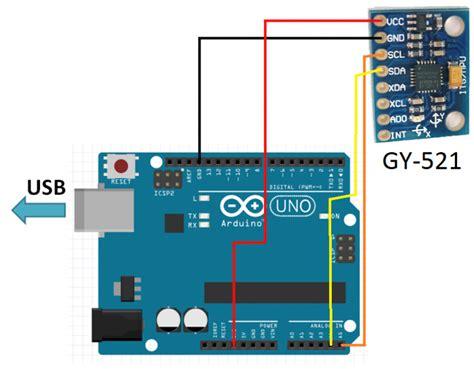 arduino gyroscope tutorial 3 axis gyroscope accelerometer module gy 521 16 bit