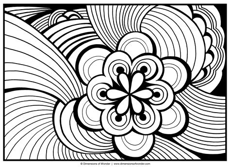 Abstract Coloring Pages Dow 01 Dimensions Of Wonder Abstract Coloring Pages To Print