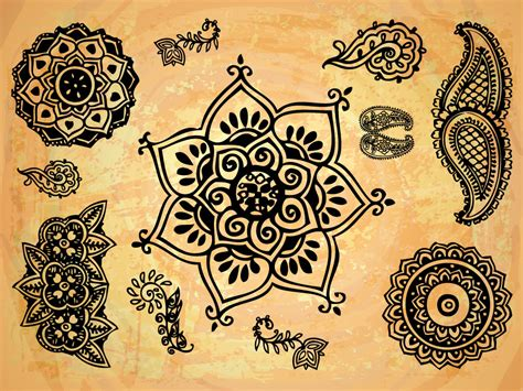 tattoo flower indian 10 indian floral ornament vector images indian mandala