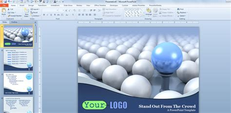 3d powerpoint template free download presenter media