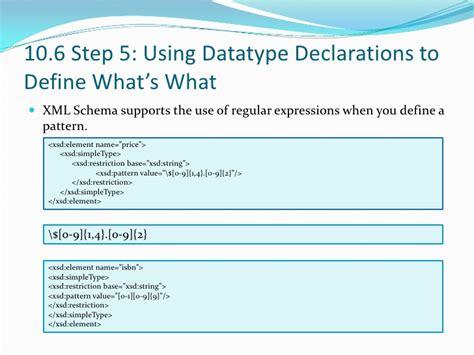 xsd simpletype date pattern xml for dummies chapter 10 building a custom xml schema it