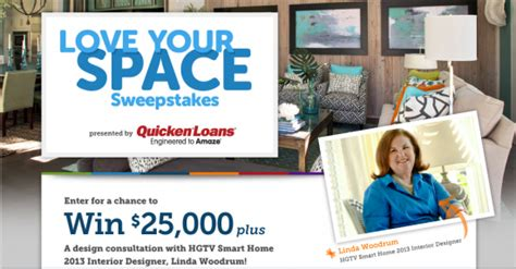 Hgtv 25000 Giveaway - hgtv quot love your space quot sweepstakes win 25 000 more