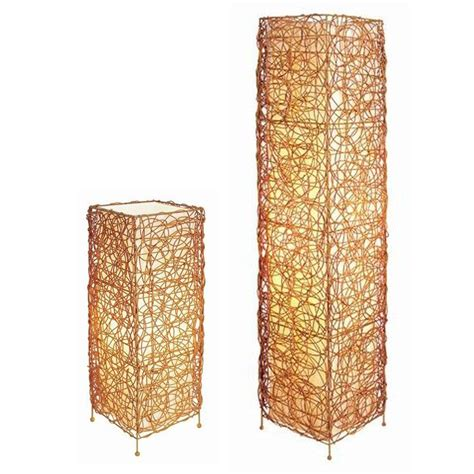 ore international 23 in rectangle rattan l set tan