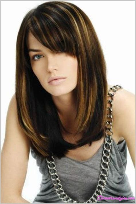 medium straight hairstyles with bangs haircuts for medium straight hair with bangs