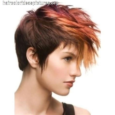 short hairstyles and color pictures short hair faux hawk women red hair color ideas hair