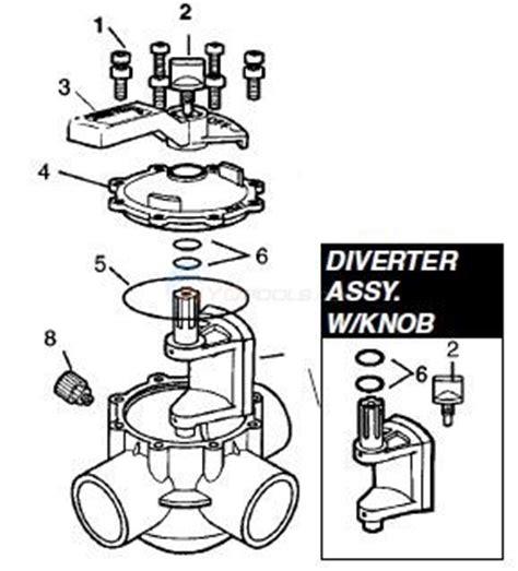 jandy valve parts diagram jandy 2 port 3 port 90 176 2 port parts inyopools