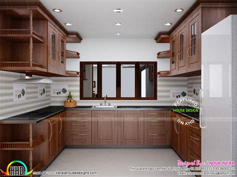 interior designed kitchens february 2016 kerala home design and floor plans