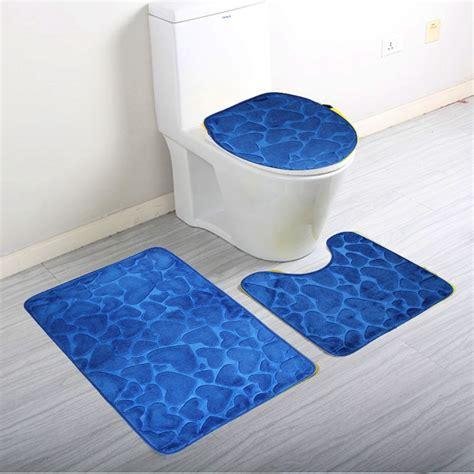 bathroom mats set 3pcs set home bathroom door floor mat pad set soft coral