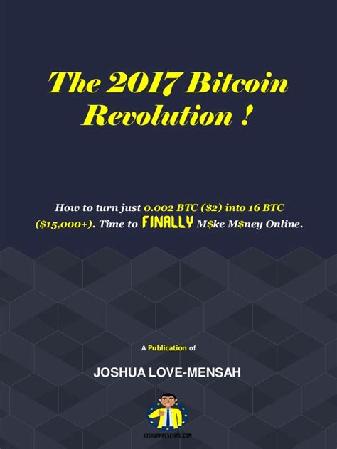 Make Money Online Bitcoin - the 2017 bitcoin revolution make money online with bitcoin