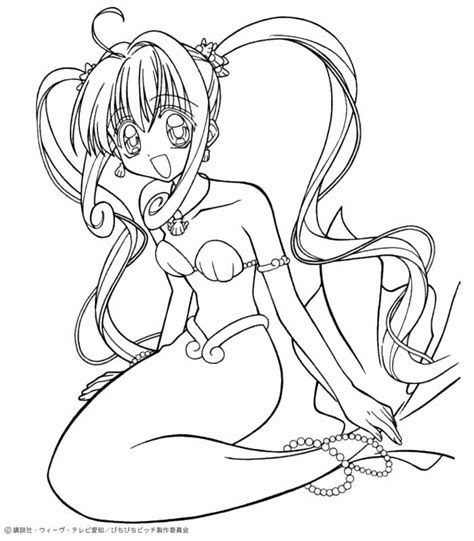 mermaid melody coloring pages google search anime