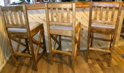 white rustic bar stools diy projects