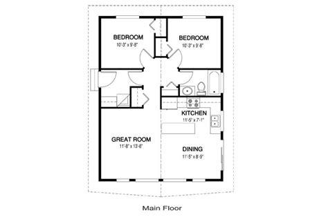 cedar cabin floor plans house plans the robin 2 cedar homes