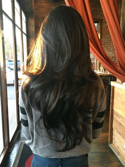 long hair short layers pictures of color cuts and up 25 best ideas about brown layered hair on pinterest