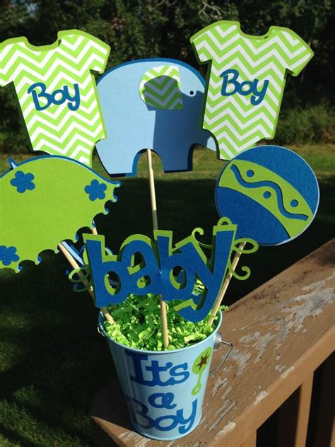 Baby Boy Shower Centerpieces For Tables by Baby Shower Table Decoration Centerpiece It S A Boy
